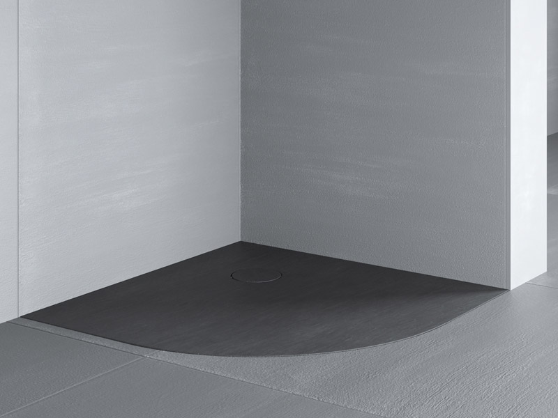 Piatto doccia: ceramica resina silici al quarzo a misura