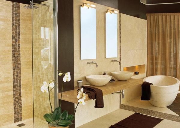 Bagno con piastrelle effetto pietra bagno with bagno con