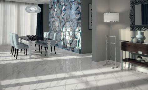 Piastrelle per pavimenti e rivestimenti cucina bottacini - Rivestimento bagno effetto marmo ...