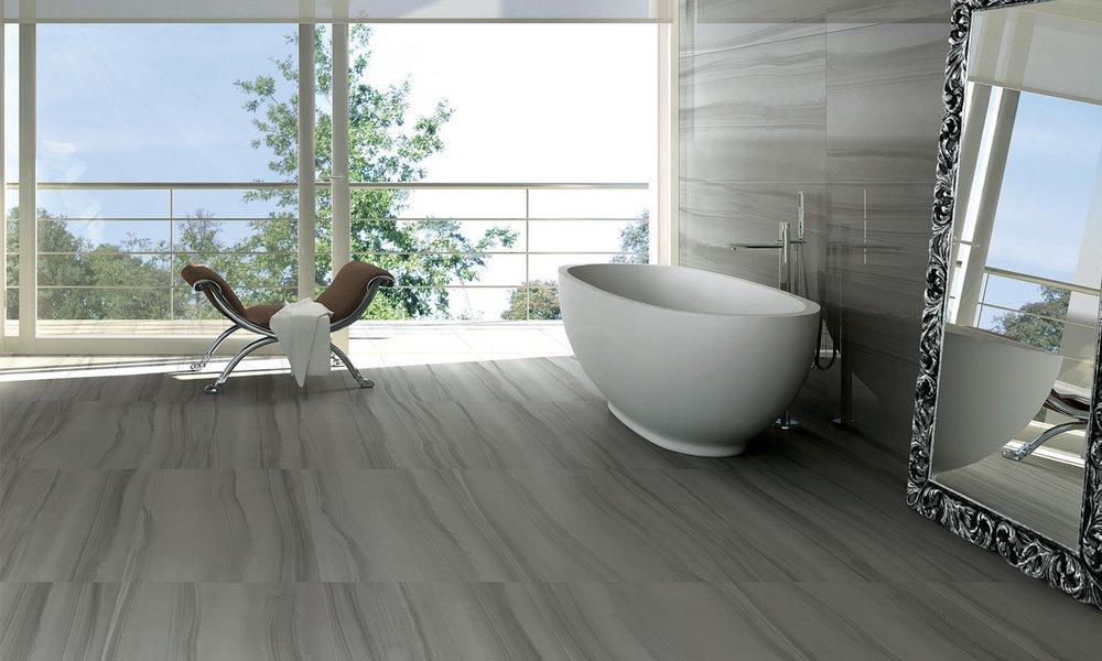 Piastrelle bagno finto marmo rivestimento bagno lappato effetto