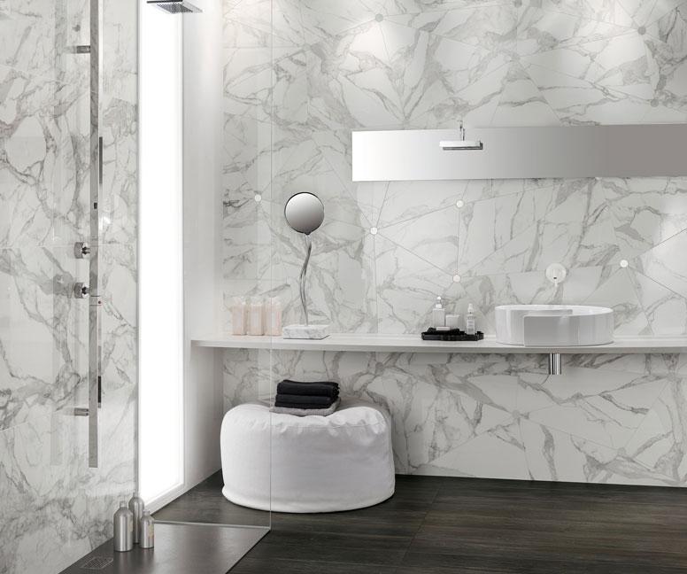 Rivestimento effetto marmo bottacini pavimenti - Bagno effetto marmo ...