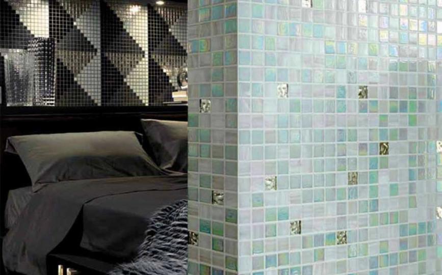 Rivestimento piastrelle mosaico per bagno e altri ambienti bottacini