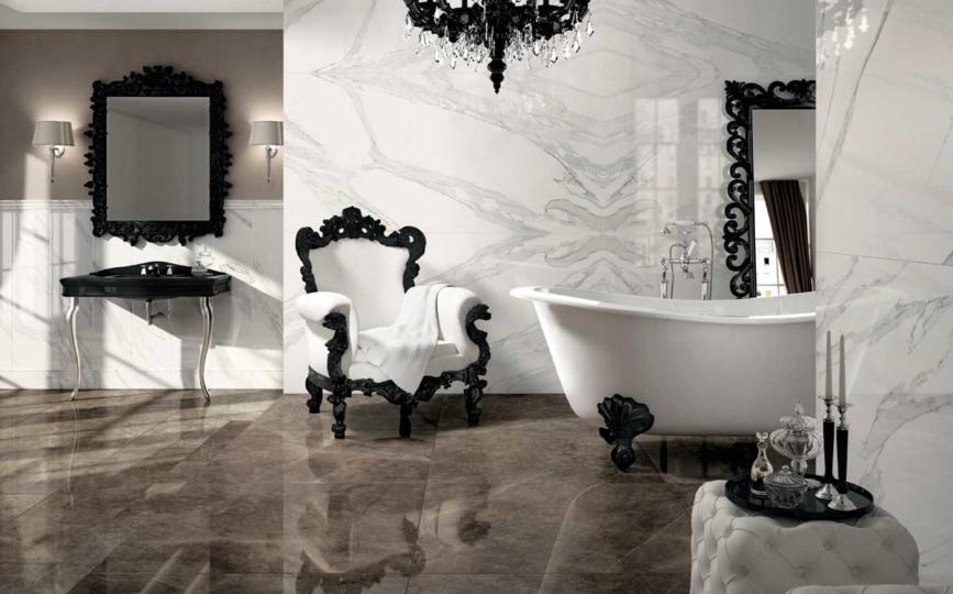 Bagni In Marmo Nero : Pavimento in gres porcellanato effetto marmo bottacini pavimenti