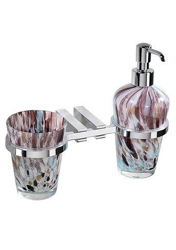 Porta dosatore/bicchiere in vetro corcovado