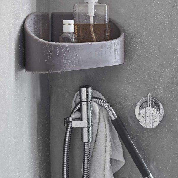 mensola ad angolo bagno
