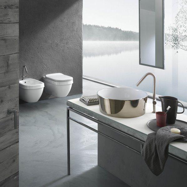 lavabi lineari nella forma, ergonomici nelle funzioni e dalle dimensioni contenute
