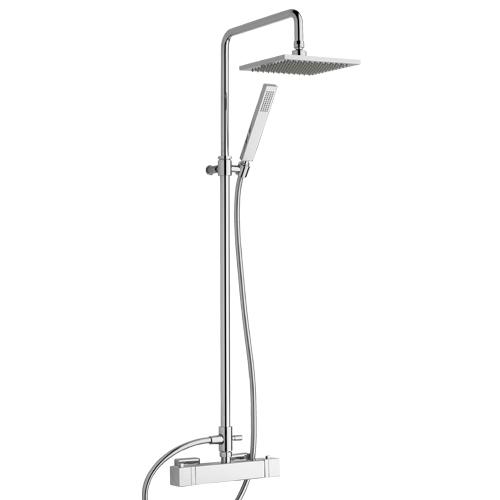 Monocomando doccia esterno con colonna, deviatore, soffione, flessibile e doccia