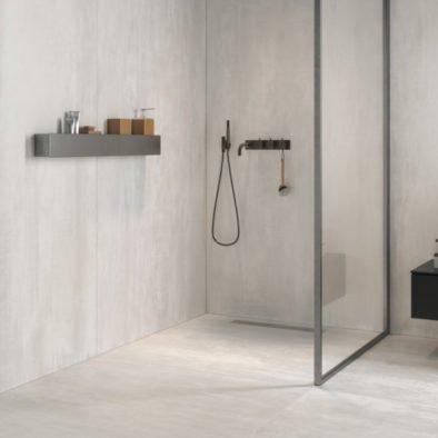 rivestimento bagno effetto Metallo e cemento