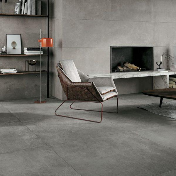 Glocal - cemento rasato in gres porcellanato grande formato