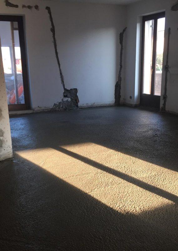 realizzazione massetti sabbia cemento