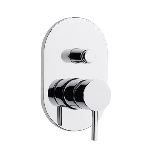 rubinetto Monocomando doccia incasso due uscite con deviatore a pulsante